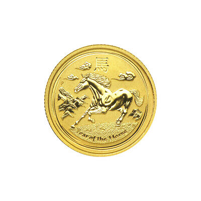 1/10 oz 2014 Lunar Year of the Horse Perth Mint Gold Coin