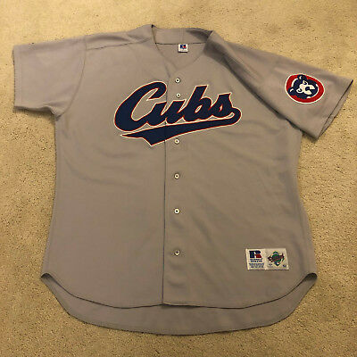 eae194b1468 90s Vintage MLB CHICAGO CUBS Russell Athletic Gray Road Jersey sz 52 XXL 2XL