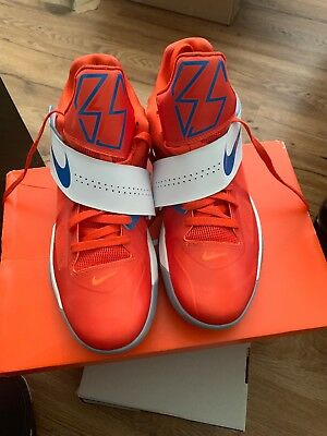 new arrival ebab8 1d8cf NIKE Zoom Kevin Durant KD IV 4 Creamsicle Orange Blue White - Size 12