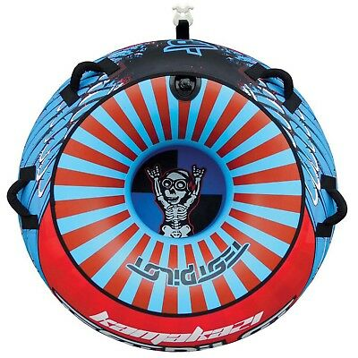 """Test Pilot Kamakazi 1 Person 56"""" Towable Water Ski Tube Inflatable Biscuit Ride"""