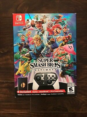 NEW Super Smash Bros Ultimate Special Edition Game + Nintendo Switch Controller