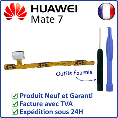 Nappe Interne Des Boutons Touches Power On Off Et Volume + - Du Huawei Mate 7