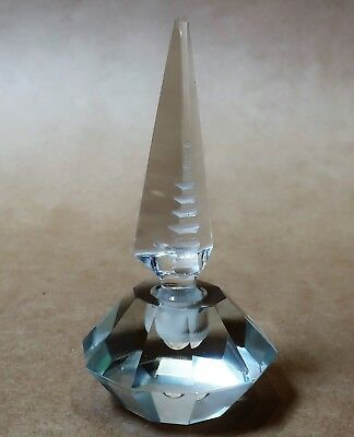 Beautiful Art Deco Cut Crystal Perfume Bottle