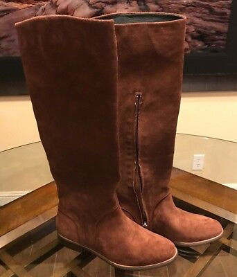 734ba0cbef0 $250 UGG DALEY Gracen Mahogany Tall Suede Equestrian Women's Riding Boots  Size 8