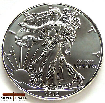 2019 1oz American Silver Eagle 1 ounce Silver Bullion Coin unc: