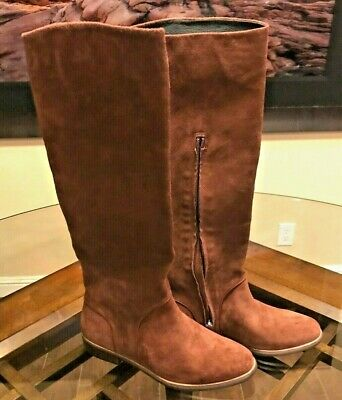 d7bbd6d216e UGG WOMEN'S DALEY (Gracen) MAHOGANY Brown Suede Tall Boots 8.5 MSRP ...