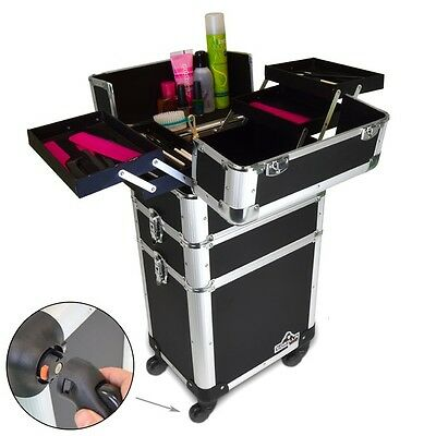 Gorilla Pro Mobile Cosmetic Beauty Makeup Hairdresser 3-in-1 Trolley Case Wheels
