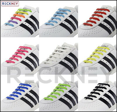 Easy No Tie Shoe Laces Silicone Shoelaces Trainers  Adults&Kids Disability Aid