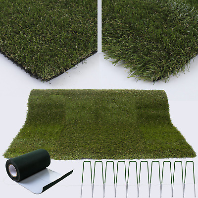 NEW Green Artificial Grass Astro Turf Fake Lawn Astro Garden Lawns No Mowing