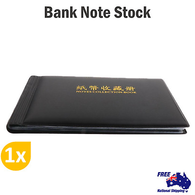 BankNote Album Stock Collection Currency Holder Pocket & Coin Stock Holder Money
