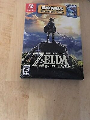 The Legend of Zelda Breath of the Wild Starter Pack With Guide Nintendo Switch.