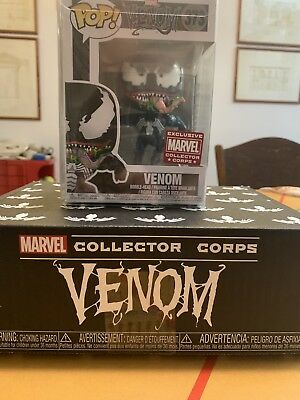 Funko Pop Marvel 373 Venom Leaping Marvel Collector Corps Exclusive New