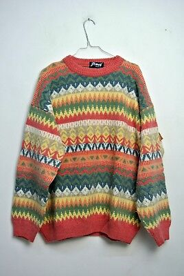 MAGLIONE CULT VINTAGE WOOL SWEATER 90s MADE IN ITALY TG XL/XXL MG67