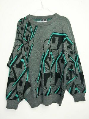 MAGLIONE  CULT VINTAGE 90s PURE NEW WOOL SWEATER MADE IN ITALY TG. L MG73
