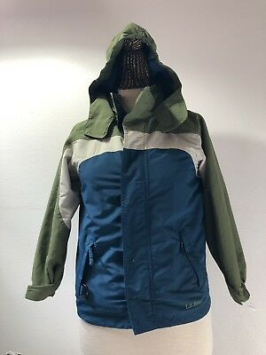 4289d7a97 LL BEAN KIDS Little Girls Maine Mountain Parka Jacket Blue Size L 6X ...