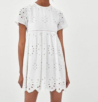 9d8fbcde18 ZARA EMBROIDERED JUMPSUIT Dress Off White Ref.0881 248 Size M ...