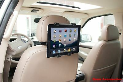 "Adjustable Universal Car Headrest Seat Mount Holder For All Tablets 6"" To 11"""