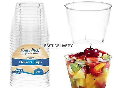 60 pieces Party Cup Crystal Clear Hard Plastic Disposable Dessert Cups 5oz-145ml