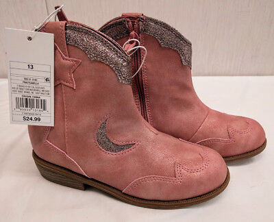 9c8c1a4002f YOUTH GIRLS' CAT & Jack ISABELLA Cowboy Boot sz 13 Pink NEW IN BOX [1804]