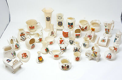 Crest Ware Crested China Goss Arcadian Willow Gemma Grafton Pot Jugs Ewer Flags