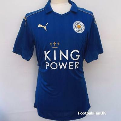 LEICESTER CITY FC Official Puma Home Football Shirt 2016-2017 NEW Mens Jersey