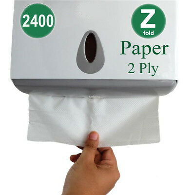 2400 Luxury White 2ply Z Fold Paper Hand Towels MultiFold  Napkins