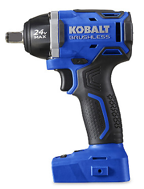 24 Volt Max 1/2 Inch Drive Brushless Cordless Impact Wrench Metal Plastic Blue