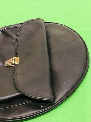 Vespa Leather Black With Pocket Design Spare Wheel Cover 8 Inch