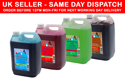 Slush Syrup 2 X or 4 X 5 Litres Blue Raspberry, Strawberry, Lemon & Lime, Cola