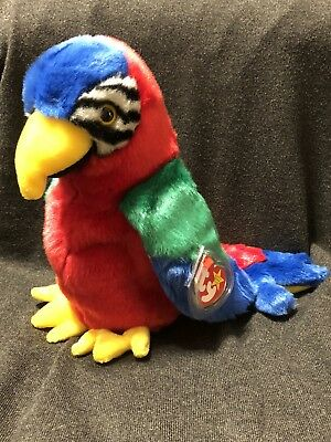 3a9ab82fe68 RETIRED TY BEANIE Baby Buddy - Jabber The Parrot - Large Plush ...