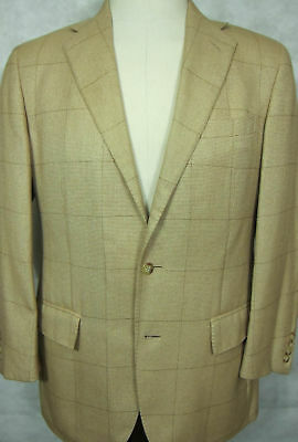 GORGEOUS $1200 Ralph Lauren Polo Gold Camel & Silk Sport Coat Made in Italy 40R