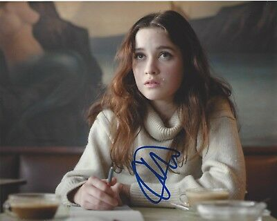 Autographs-original Alice Englert Signed Beautiful Creatures 8x10 Photo Coa Them That Follow Movie C Photographs