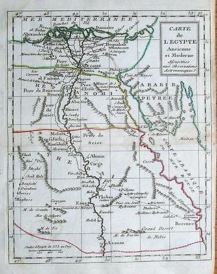 EGYPT NILE DELTA  Laporte Atlas Moderne  Hand coloured Original Antique Map 1786