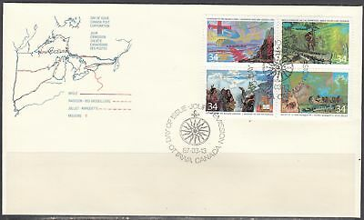 Canada Scott 1129a FDC - 1987 Exploration of Canada Issue