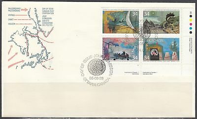 Canada Scott 1107a LR Pl Blk FDC - 1986 Exploration of Canada Issue