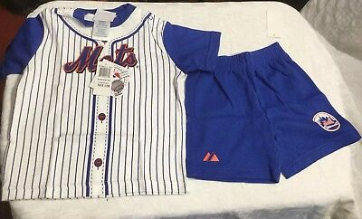 check out 376f8 fc718 MLB NEW YORK Mets Jersey And Short Set Infant Sizes INV#(s1-2b)