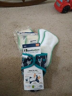 BestBottoms cloth diaper lot - includes cover and inserts (hemp and microfiber)