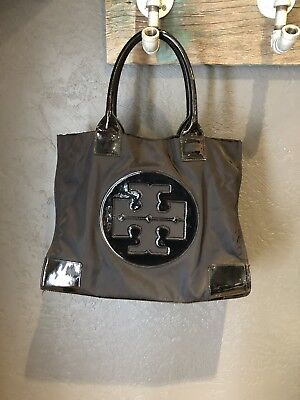 d4920f2f982a TORY BURCH BLACK Ella Nylon Packable Tote Bag Authentic -  99.99 ...