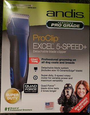 USED!!!Andis Pro Clip Excel 5-Speed Animal Pet Dog Animal Clipper 65325