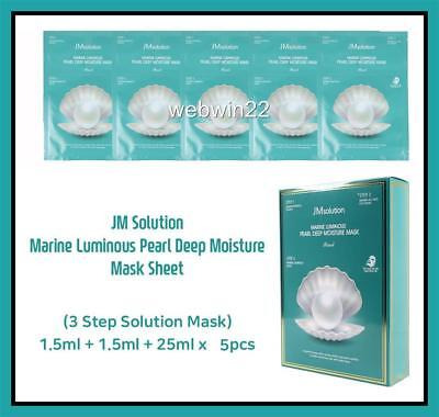 5pcs JM solution Marine Luminous Pearl Deep Moisture Mask Facial Skin Korea made