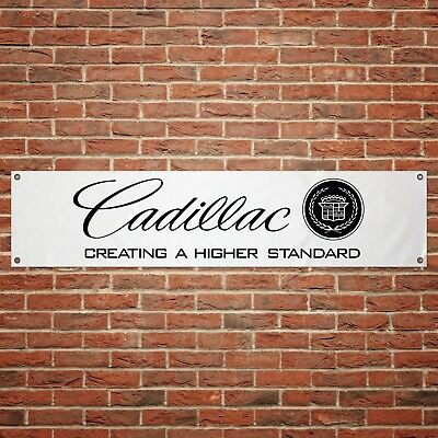 Cadillac Banner Car Garage Workshop PVC Sign Trackside Display