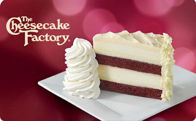 $50.00 Gift Card to The Cheesecake Factory