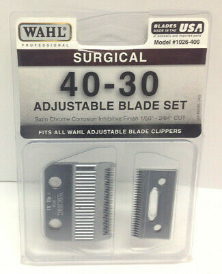 Wahl 40-30 Surgical REPLACEMENT CLIPPER BLADE Fits Stable//Show//Kennel Pro,UClip