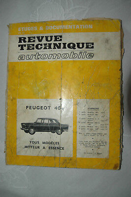 RTA Peugeot 404 essence carbu et injection de 1960 à 1966