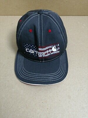 Carhartt Hat Distressed Flag Graphic Shadow Gray OSFA Cap Made in the USA 4648f3a007f