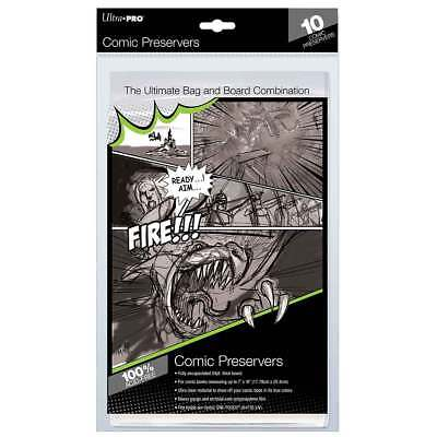 """10 Ultra PRO Resealable Comic Book Preserver Bags Protectors Sleeves 7 x 10"""""""