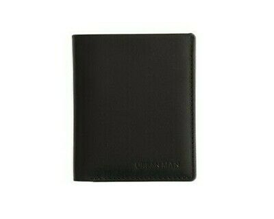 Men's Slim Genuine Leather Vertical Bifold Wallet - URBAN MAN 'Preston' - BLACK
