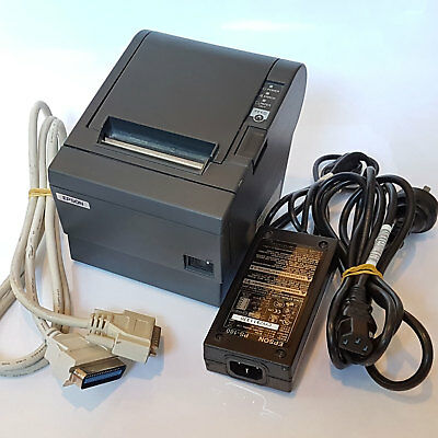 Epson TM-T88III M129C Thermal POS Receipt Printer & Power Supply Parallel