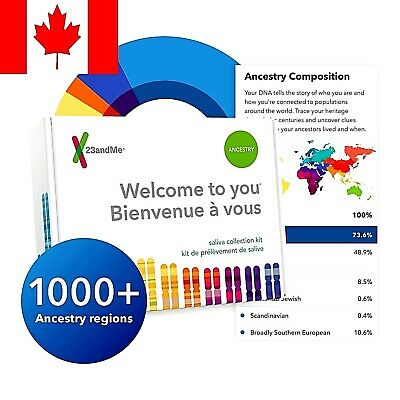23andMe DNA Test - Ancestry Personal Genetic Service (FAST SHIPPING)