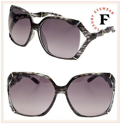5ffe166027 GUCCI Bamboo GG3508S Translucent Grey Horn Gold Gradient Sunglasses 3508  0505